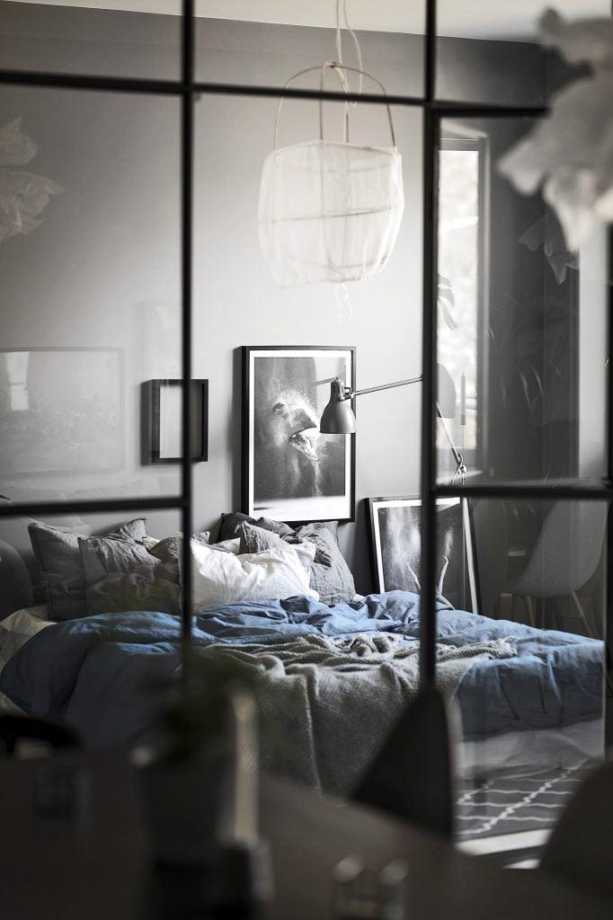 Glasväggar till sovrummet